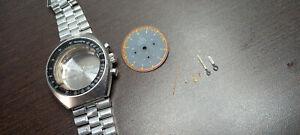 omega speedmaster mark II 2 145.014 racing case, dial, hands, bracelet crown