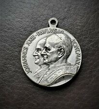 More details for vintage papal medallion of 2 popes, pope john xxiii & pope paul vi