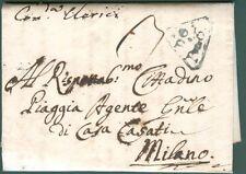 LOMBARDO VENETO. Lettera da Cremona a Milano del 13 Febbraio 1804