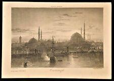 ORIGINAL FINE LITHO FRANCE MARITIME CONTANTINOPLE TURKEY ISTANBUL NO COPY