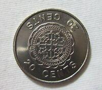 SOLOMON ISLANDS. 20 CENTS, 1977, QUEEN ELIZABETH II.