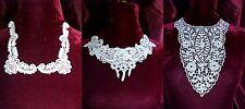 Venise Lace NECKLINE appliques 3 styles choose one Jacket Sweater  Gown #1687
