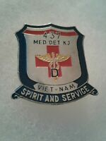 Authentic Beercan Insignia US Army 437 DENTAC Medical Detachment DUI Unit Crest