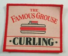 More details for the famous grouse vintage curling scottish cloth patch badge - 70x60mm -