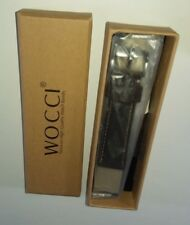 20 mm WOCCI Leather Watch Band,Brown w/ contrast seam and Stainless clasp