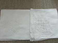 Lot of 2 Lovely Vintage wedding handkerchiefs Linen & Lace E