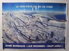 Vintage Poster Le Vrai Pays Du Ski De Fond Zone Nordique Les Rousses Haut Jura
