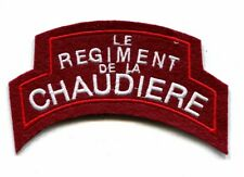 LE REGIMENT DE LA CHAUDIERE SHOULDER FLASH - Reproduction (B-60)