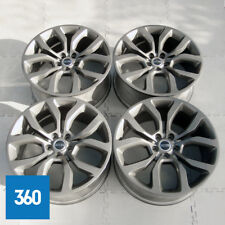 "GENUINE RANGE ROVER SPORT 21"" 5 SPLIT SPOKE ALLOY WHEEL SET SATIN GREY LR044840"