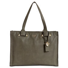 GUESS Talan Tech-Friendly Extra-Large Tote Shoulder Bag (Fog/Gold)