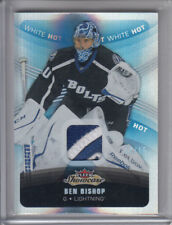 15/16 Fleer Showcase Tampa Bay Lightning Ben Bishop White Hot Patch #69 Ltd #/15