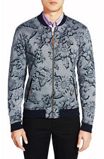 TED BAKER 'Nordsun' Flower Reversible Zip Front Cotton Bomber Size 5/XL NWT $225