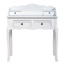 Mobili Rebecca® Coiffeuse Bureau 4 Tiroirs Bois Blanc Francais Classique Salon