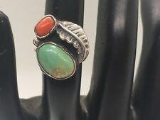 Nice Vintage Turquoise and Sterling Silver Ring in a Size 3