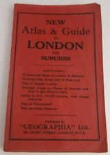 VINTAGE ATLAS AND GUIDE TO LONDON AND SUBURBS - INCLUDES 71 MAPS