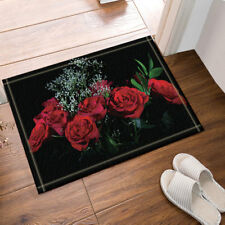"Roses in Water For Valentine Non-slip Bathroom Rugs Door Mat Carpet 16X24"""