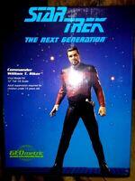 GEOMETRIC WILLIAM RIKER VINYL MODEL KIT, STAR TREK: THE NEXT GENERATION, NEW MIB