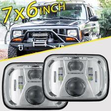 "220W 7x6"" 5X7"" LED Projector Headlight Hi-Lo Beam Halo DRL For Jeep Cherokee XJ"