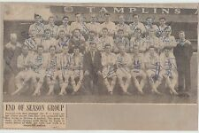 BRIGHTON & HOVE ALBION 1958-1959 RARE ORIGINAL HAND SIGNED TEAM GROUP 31 X SIGS