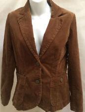 H&M 10 Jacket Brown Corduroy Blazer New