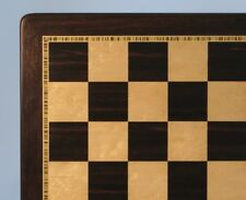 "CHESSBOARD - 20½"" - 2¼"" SQ's - EBONY & BIRDSEYE MAPLE INLAID FRAME (ww 55520ebm)"