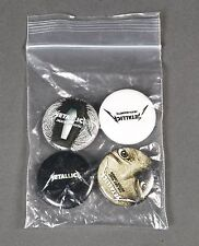 VINTAGE PROMO ONLY LOT OF 4 METALLICA BUTTONS PINS JAMES HETFIELD METALLICA RARE