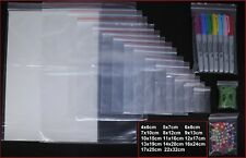 More details for small clear grip self press and seal resealable polythene zip lock plastic bags