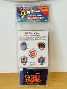 *POGS* Skybox SKYCAPS DC Comics RETURN OF SUPERMAN - Plus Cosmic Team Cards