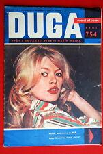 BRIGITTE BARDOT ON FRONT COVER 1960 RARE EXYU MAGAZINE