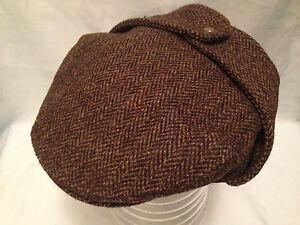 MENS TRADITIONAL HARRIS TWEED BUGATTI FLAT CAP EAR FLAPS DIRECT FROM SCOTLAND