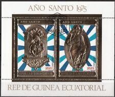 Guinea Equatoriale 1975 Ano Anno Santo Gold Art sheet CTO Perf. Ecuatorial