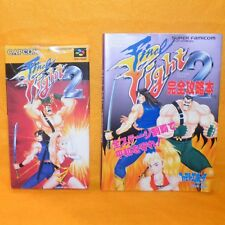 Vintage 1993 capcom NINTENDO SUPER FAMICOM final fight jeu 2 japon + guide book