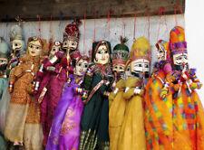 5 Pair Lot Handmade Indian Puppet Doll Ethnic Sari Rajasthani Hanging Kathputali