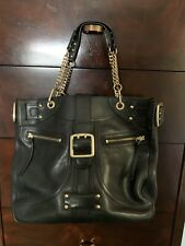 DKNY black leather Tote handbag With Gold Details With Cover