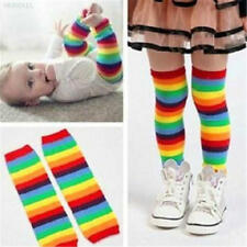 C82F Baby Toddler Kids Leg Warmer Colorful High quality Sunny Rainbow Stripes So