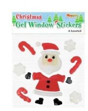 Christmas Window Gel Stickers Xmas Decoration Santa Design
