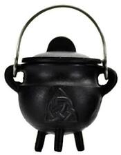 Small Triquetra Pot Belly Lidded Cauldron!