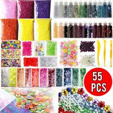 55 Pack Slime Supplies Kit Slime Beads Charms Glitter Fishbowl Slime Making Diy
