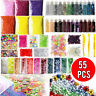 55 Pack Slime Supplies Kit Slime Beads Charms Glitter Fishbowl Slime Making DIY