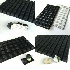 Black Rubber Feet Self-Adhesive Bumper Door Buffer Stop Furniture Table Pads