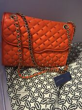 Rebecca Minkoff Orange Orangina Quilted Affair With Studs Nwt
