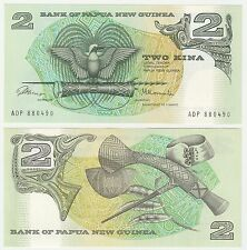 Papua New Guinea 2 Kina 1981 Issue P-5a UNC Uncirculated Banknote