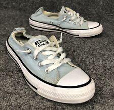 Converse Women's Light Blue Shoreline Slip On Shoes Size 6
