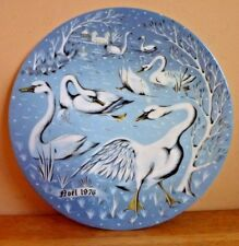 Vintage 1976 Haviland Limoges 12 Days of Christmas Seven Swans A'Swimming Plate