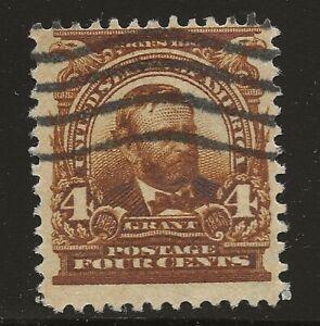 US Scott #303, Single 1903 Grant 4c FVF Used