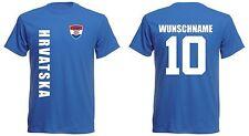Kroatien Hrvatska KINDER  T-Shirt Trikot - EM 2016 Fußball - inkl. Name + Nr.bl