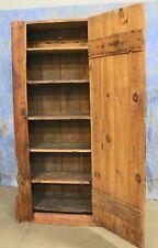 "Antique Primitive Salvaged 70"" Tall Farmhouse Cupboard Cabinet Rustic"