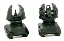 HK Sights Rear & Front Flip Up Folding Sight Set Tactical Back-Up Spring Loaded