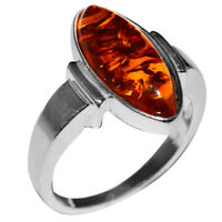 4.55g Authentic Baltic Amber 925 Sterling Silver Ring Jewelry N-A7137
