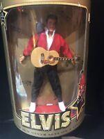 Elvis Presley Jailhouse Rock 45 RPM Doll w/ Stand Guitar & COA, Hasbro 9146 NRFB